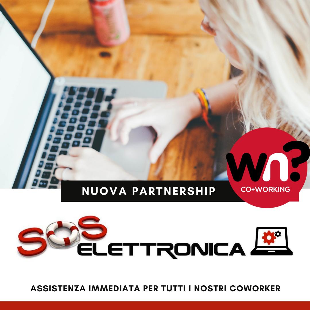 SOS Elettronica diventa partner tecnico di Why Not Coworking