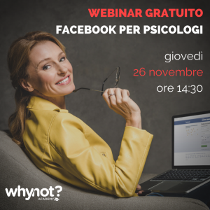 Webinar Facebook per Psicologi e Psicoterapeuti - Corso Social per Psicologi